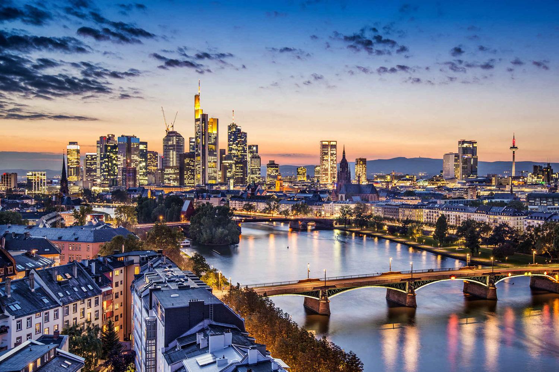 View on the city of Frankfurt